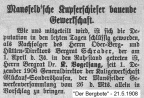 Text Bergbote - Wahl Vogelsang am 21. Mai1908
